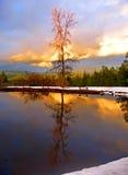 заход солнца гор Стоковое фото RF