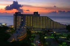 заход солнца гостиницы Гуама Стоковое фото RF