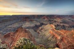 Заход солнца грандиозного каньона Стоковая Фотография