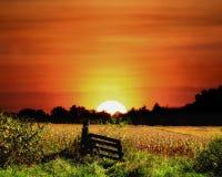 заход солнца графства columbia стоковое изображение