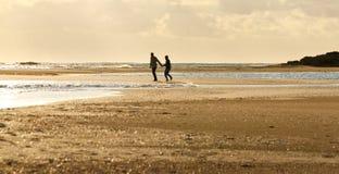 заход солнца Греции пляжа стоковые изображения rf