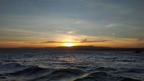 Заход солнца Дарданеллы стоковая фотография rf