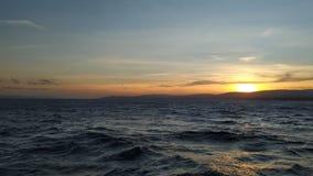 Заход солнца Дарданеллы стоковые фото