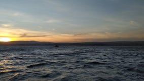 Заход солнца Дарданеллы стоковое изображение rf