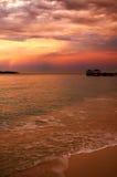 заход солнца дождя Стоковые Изображения RF