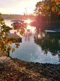 Заход солнца дока стоковая фотография rf