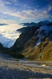 заход солнца доломитов Стоковые Фото