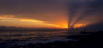 заход солнца Доминиканского Республики bayahibe Стоковые Изображения
