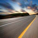 заход солнца дороги искусства Стоковые Изображения RF