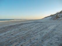Заход солнца дюн острова Гаттераса стоковая фотография rf