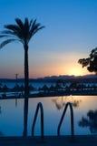 заход солнца Египета Стоковые Изображения