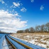 заход солнца железной дороги к Стоковые Изображения