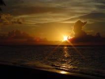заход солнца завершенности 2 Стоковые Изображения RF