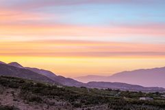 Заход солнца заволакивает восход солнца Стоковая Фотография RF