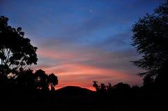 Заход солнца, западная Кения Стоковые Изображения RF