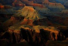 заход солнца зарева каньона грандиозный Стоковые Фото