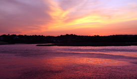 заход солнца зарева теплый Стоковое Изображение RF