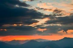 заход солнца зарева Стоковые Фото