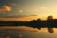 заход солнца зарева Стоковое Изображение