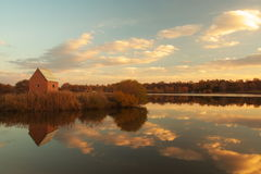 заход солнца зарева Стоковая Фотография