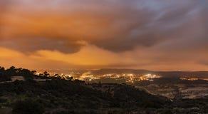 Заход солнца зимы над Израилем стоковая фотография rf