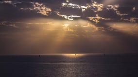 Заход солнца зимы на Apollonia Стоковое Изображение RF