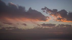 Заход солнца зимы на Apollonia Стоковые Изображения RF