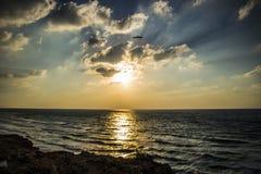 Заход солнца зимы на Apollonia Стоковая Фотография RF