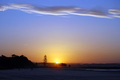 заход солнца золота свободного полета Стоковое Изображение