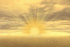 заход солнца золота иллюстрация штока