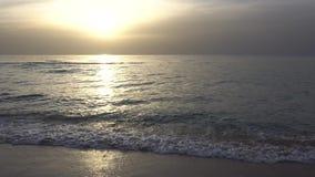 заход солнца Израиля пляжа видеоматериал
