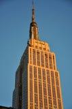 заход солнца Имперского штата здания Стоковое Изображение RF