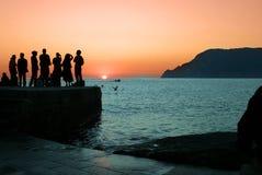 заход солнца Италии Стоковое Изображение