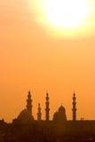 заход солнца Каира Стоковое фото RF