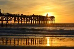 Заход солнца Калифорнии Стоковое Фото