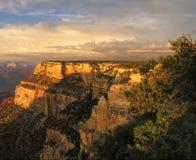 заход солнца каньона грандиозный Стоковая Фотография