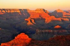 заход солнца каньона грандиозный Стоковое фото RF