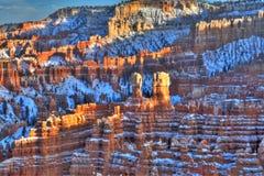 заход солнца каньона bryce стоковые изображения