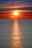 заход солнца клиша Стоковые Изображения RF