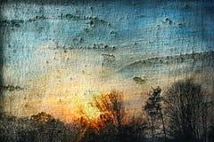 заход солнца коллажа стоковая фотография rf