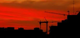 заход солнца конструкции Стоковое Изображение