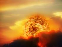заход солнца космоса Стоковые Фото