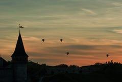 Заход солнца крепость Стоковая Фотография