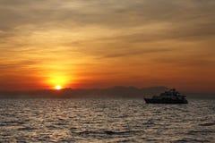 заход солнца круиза Стоковое Фото