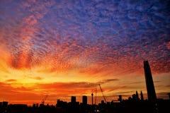 Заход солнца Куала-Лумпур Стоковые Фотографии RF