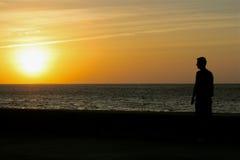 заход солнца Кубы Стоковые Фото
