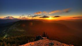 заход солнца курятника s ворона Стоковая Фотография
