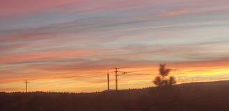 Заход солнца лавы Меркурия стоковые изображения rf