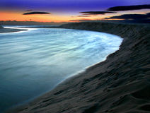 заход солнца лагуны Стоковое фото RF