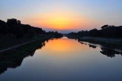 заход солнца лета дня Стоковые Изображения RF